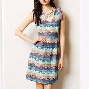 Anthropologie Tea House Striped Dress